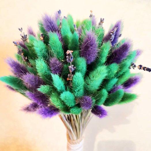 Букет из лагуруса и лаванды : букеты цветов на заказ Flowwow