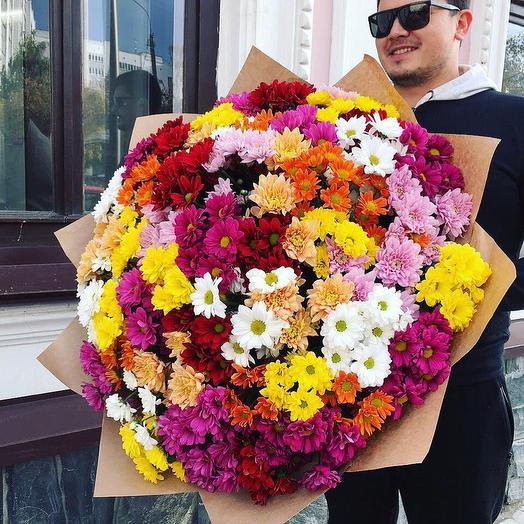 51 кустовая хризантема: букеты цветов на заказ Flowwow