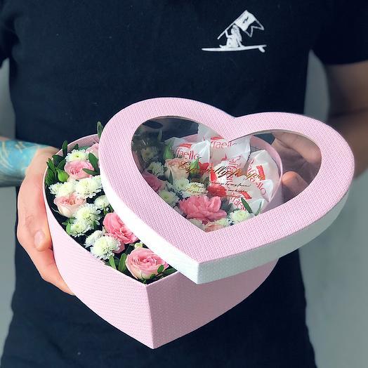 Heart 12 Среднее: букеты цветов на заказ Flowwow