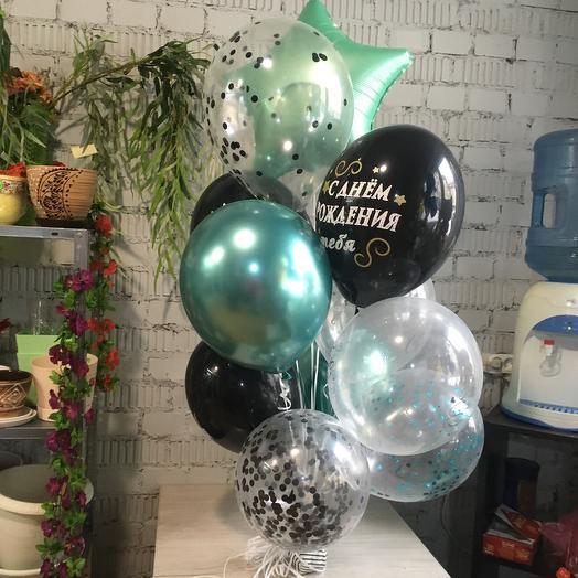 Фонтан из воздушных шаров ч/м
