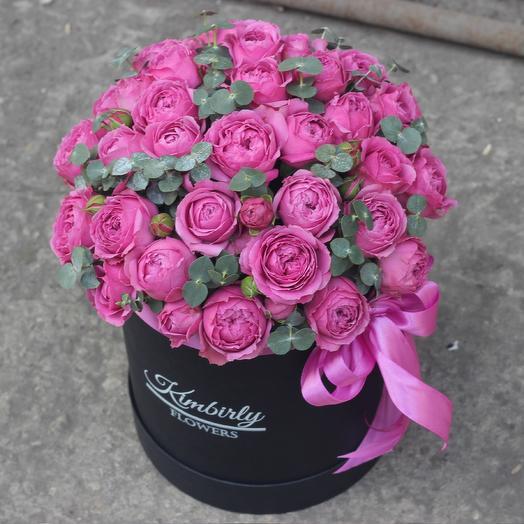 19 пионовидных роз в коробке: букеты цветов на заказ Flowwow