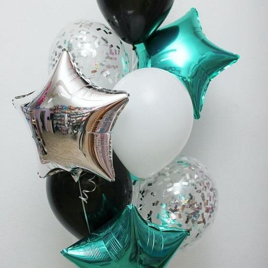 9 Гелиевых шаров: букеты цветов на заказ Flowwow