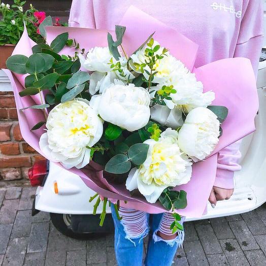 Пион Дюшес: букеты цветов на заказ Flowwow