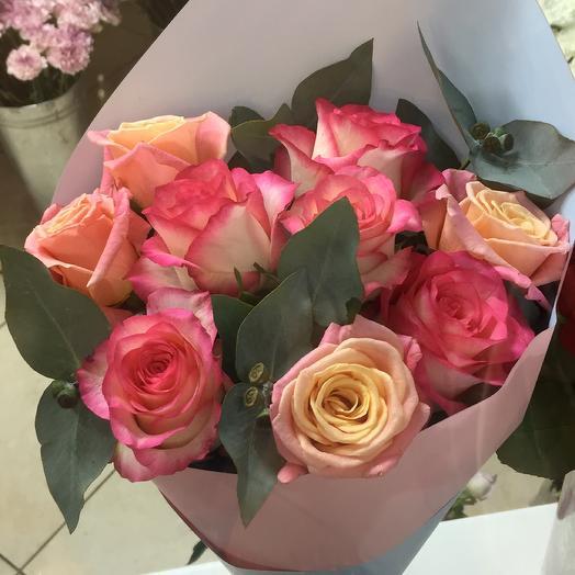 9 роз в упаковке: букеты цветов на заказ Flowwow