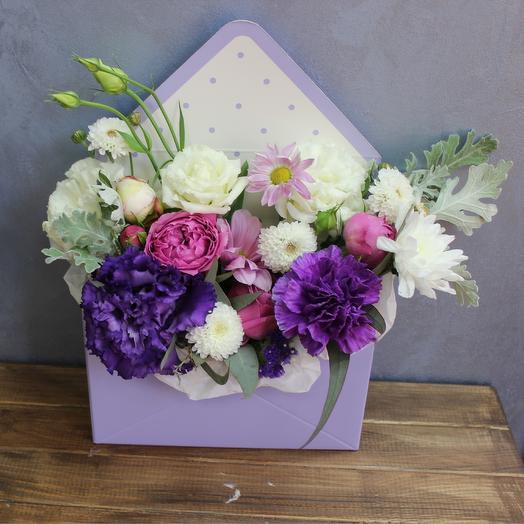 """Письмо с цветами """"Цветочный аромат"""""""