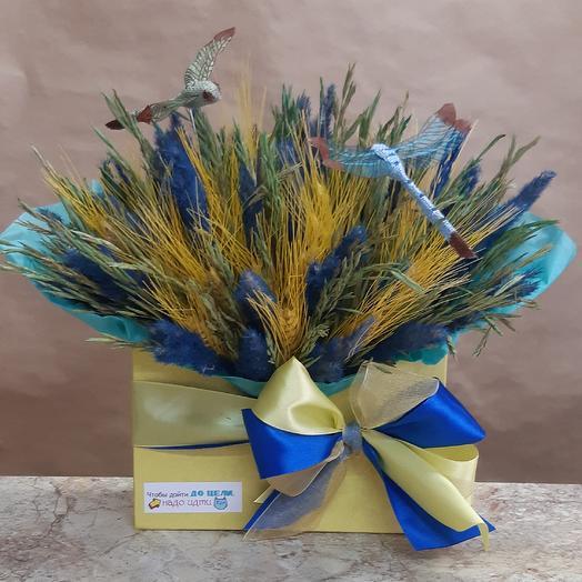 Композиция Три стихии: букеты цветов на заказ Flowwow