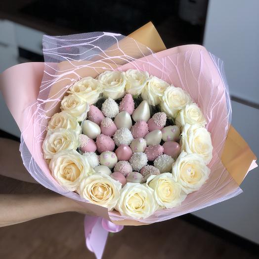 Свадебный букет WEDDING BERRY: букеты цветов на заказ Flowwow
