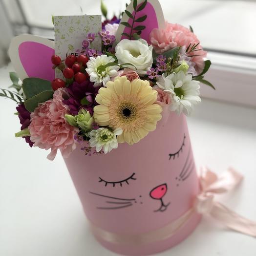 Мяу киска: букеты цветов на заказ Flowwow
