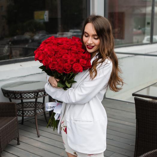 Букет из 39 красных роз: букеты цветов на заказ Flowwow