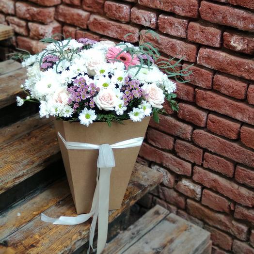Бело-розовый микс: букеты цветов на заказ Flowwow