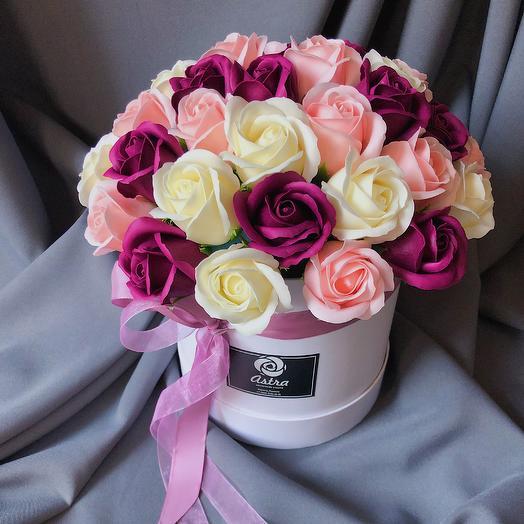Композиция из цветов из мыла: букеты цветов на заказ Flowwow