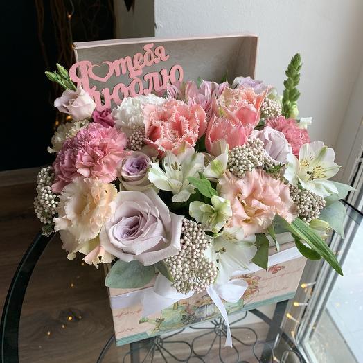 Сундук цветов: букеты цветов на заказ Flowwow