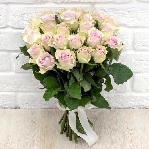 25 сереневых роз 40 см