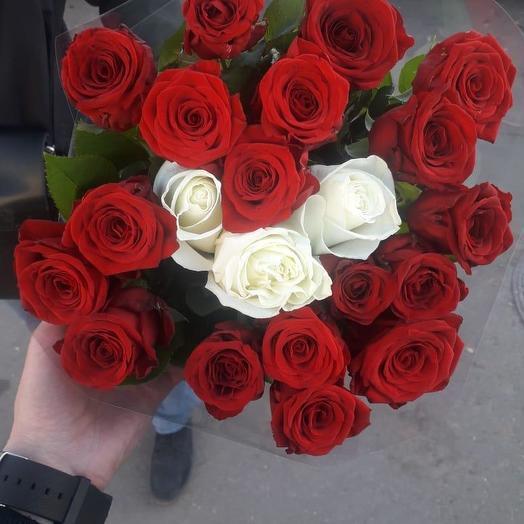 Российская роза 21 шт: букеты цветов на заказ Flowwow