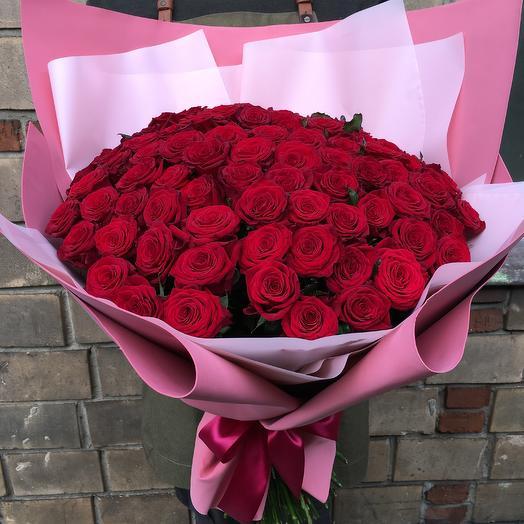 151 бордовая роза: букеты цветов на заказ Flowwow