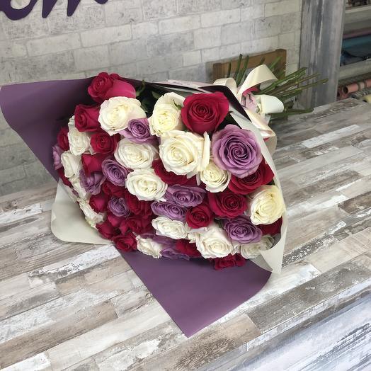 51 Роза Яркие краски
