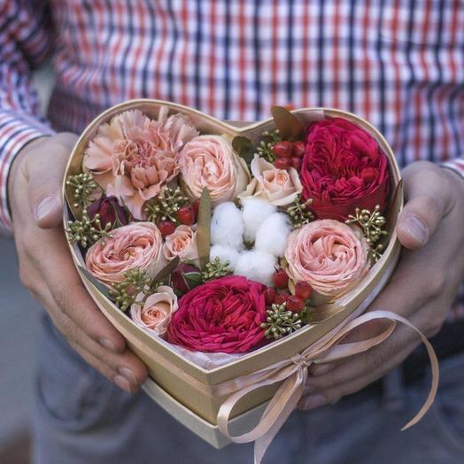 """цветы в коробочке """"Воздушная акварель"""""""