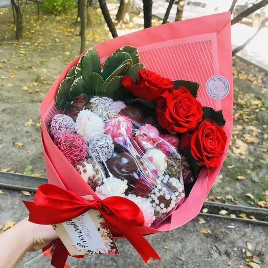 Клубника 4: букеты цветов на заказ Flowwow