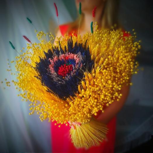 Большой букет лаванды и сухоцветов: букеты цветов на заказ Flowwow