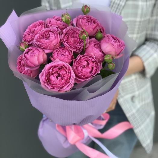 Букет из кустовых пионовидных роз Маленькое счастье