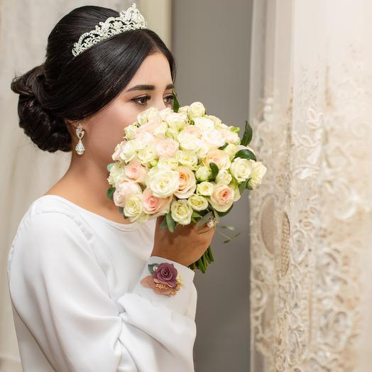Свадебный из кустовых роз