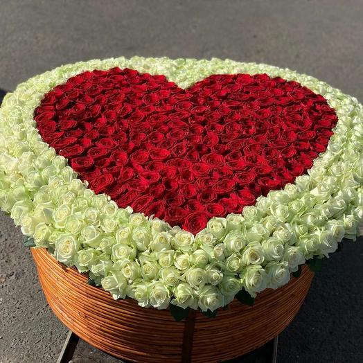 Корзина с 1001 розами