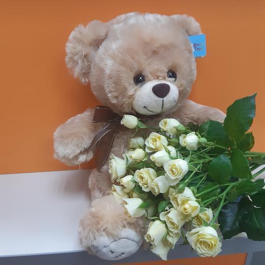 Плюшик с розами 5