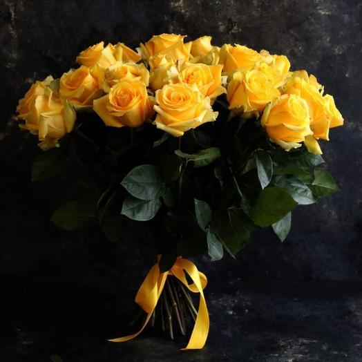 25шт  Роза Жёлтая