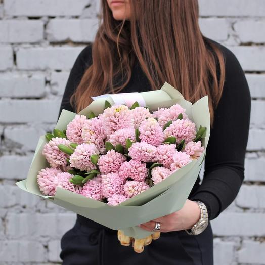 Нежно-розовые гиацинты