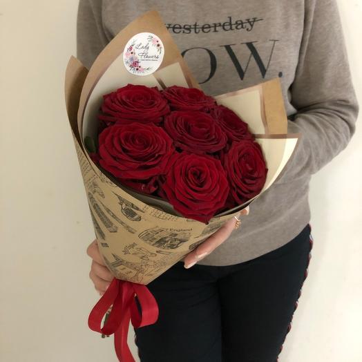 Lady Flowers  - 7 роз в оформлении