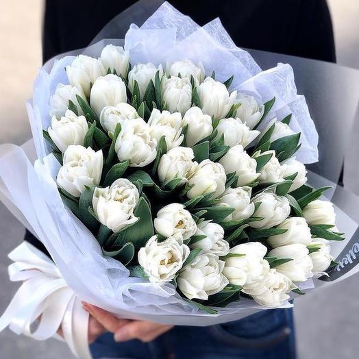 35 peony-shaped white tulips Holland