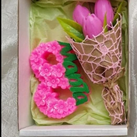 Тюльпаны из мыла 8 марта. Цвета в ассортименте