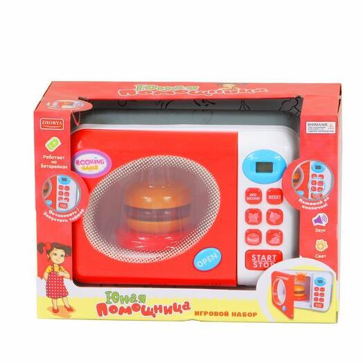 Микроволновая печь игрушка на батарейках(свет,звук)в коробке