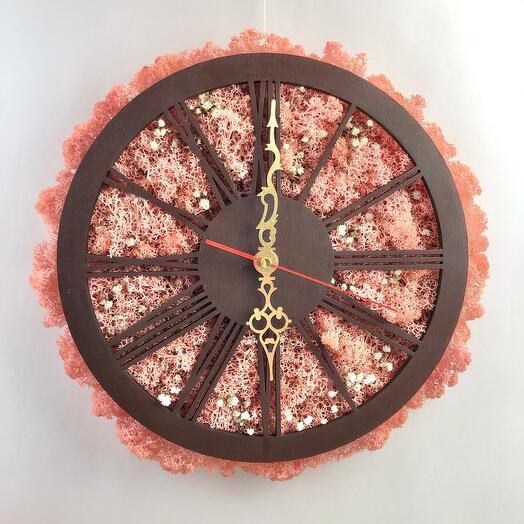 Часы Сакура розовая