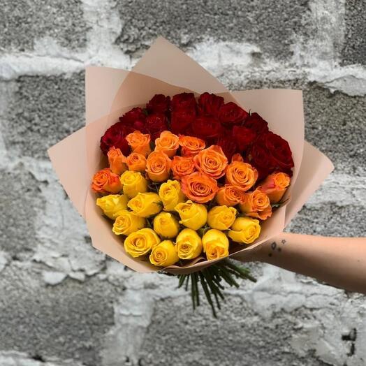 Омбре из роз