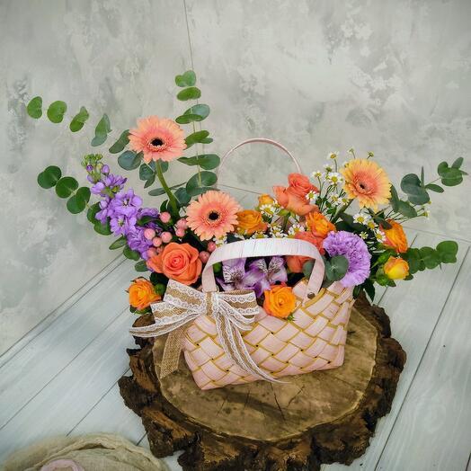 "Сумочка с живыми цветами ""Госпожа Бовари"""