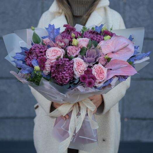 Букет хризантема Бигуди 7