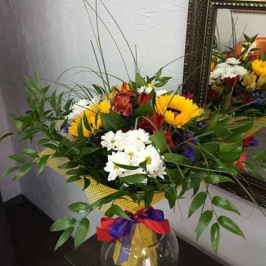 "Букет ""Подсолнухи"": букеты цветов на заказ Flowwow"