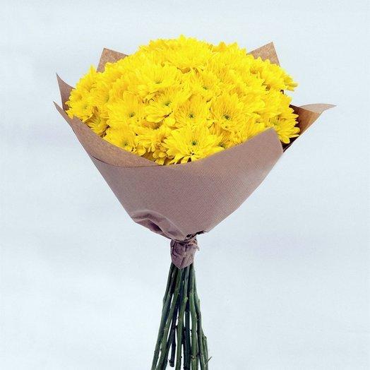 Желтые хризантемы: букеты цветов на заказ Flowwow