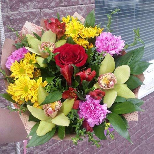 БЦ-160168 Приятные Эмоции: букеты цветов на заказ Flowwow