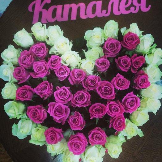Коробочка сердце из роз: букеты цветов на заказ Flowwow