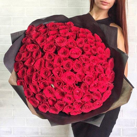 Признание 101 красная Роза: букеты цветов на заказ Flowwow