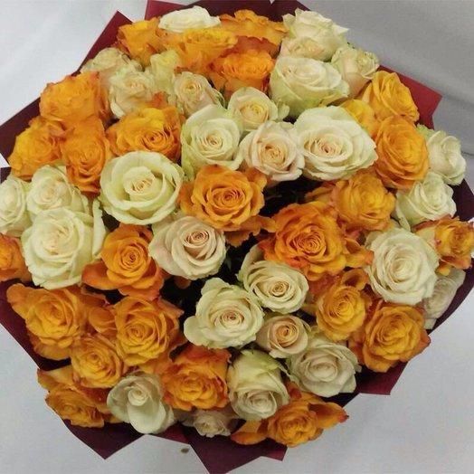 Букет 55 грунтовых роз: букеты цветов на заказ Flowwow