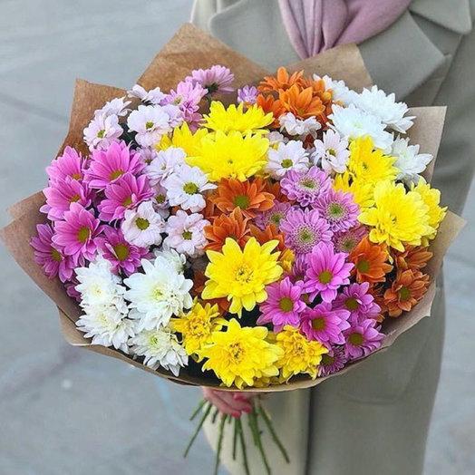 Букет МИКС из хризантем: букеты цветов на заказ Flowwow
