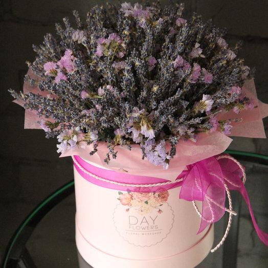 Интерьерная композиция с лавандой и сухоцветами: букеты цветов на заказ Flowwow