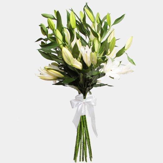 Букет 9 лилий: букеты цветов на заказ Flowwow