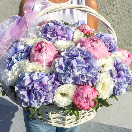 Корзина «Акварелька»: букеты цветов на заказ Flowwow