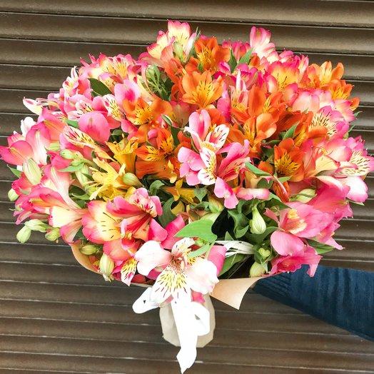 Букет из Альстромерий микс: букеты цветов на заказ Flowwow