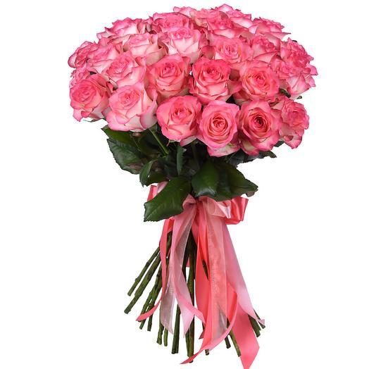 Букет из бело розовых роз: букеты цветов на заказ Flowwow