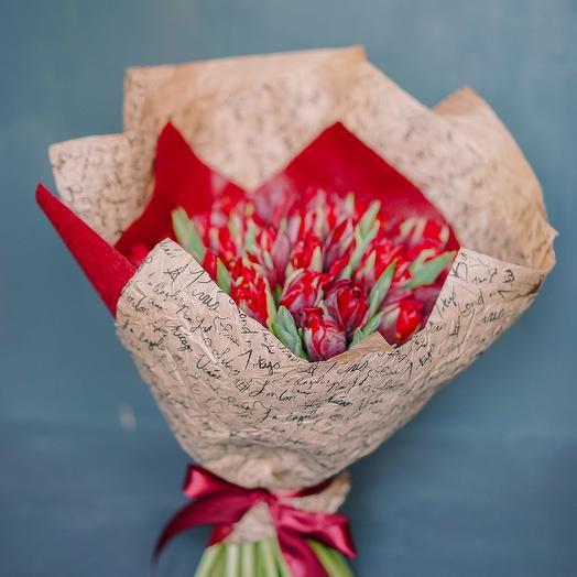 """Букет """"Lady in red"""": букеты цветов на заказ Flowwow"""